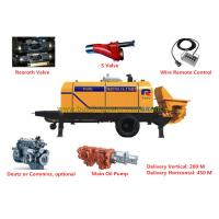 Quality Portable Hydraulic Concrete Pump Cylinder Diameter 200mm Diesel Water Pumps for sale