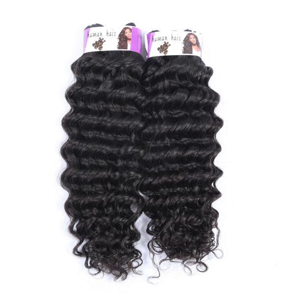 Quality Double Drawn Wholesale price 100% Peruvian hair bundles , Deep Wave Hair for sale