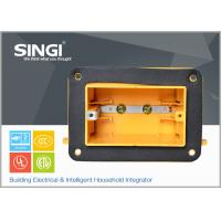 Buy cheap One Gang Plastic electric cable junction box for outlet with foam from wholesalers