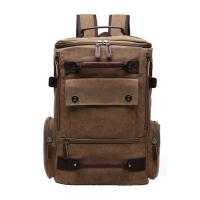 China Light Weight Canvas College Student Backpack With Side Pockets 30 - 40L wholesale