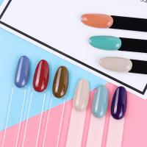 China Round Head Nail Care Tools Acrylic Fake Nail Customized Size For Display Nail Polish Chart wholesale