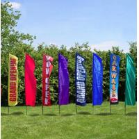 China Rectangle Full Color Decorative Beach Flags Hot Transfer Printing wholesale
