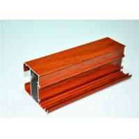 China Anodized / Mill Finished Wood Grain Aluminium Extruded Profiles , 6063 T5 wholesale