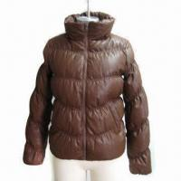 China Fashionable Women's Winter Jacket with PU Fabric and 210T Lining wholesale