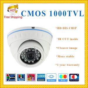 "China DIS CHIP 1000TVL 1/3"" CMOS camera with IR-CUT weatherproof Dome security Camera 24 IR indoor outdoor CCTV Camera wholesale"