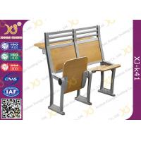 China Aluminium Frame Floor Mounded Classroom Desk And Chair Set For Students With Book Net wholesale
