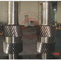 China Forged shaft, ASTM Standard 18CrNiMo7-6 mining industrial forged pinion shaft wholesale