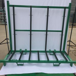 China Spray Paint Finish Defensive Barrier A Frame Rack Glass Storage Racks on sale