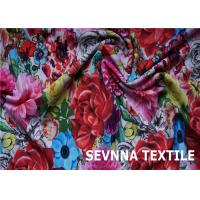 China Wefting Knit Recycled Swimwear Fabric Super Stretch Fiber Screen Printing wholesale