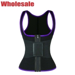 China Elastic Belt Zipper Closure Workout Waist Trainer Vest Women'S Plus Size wholesale