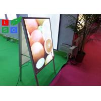 China Double Sided LED Poster Display A Shaped With Aluminium Frame Profile wholesale
