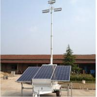 China Mobile Telescopic Light Tower With 750w Solar Panels LED Light Tower wholesale