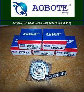 China France SKF 6200-2Z / C3 Deep Groove Ball Bearing , Single Row Bearings wholesale