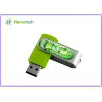 China Customised Swivel U disk,  Twist USB Sticks With Aluminum Armor /  Light LED accept paypal 1- 64GB wholesale