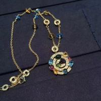 China Luxury Custom 18K Gold Jewelry , Bulgari Astrale Necklace With Gemstones wholesale