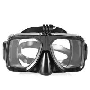 China Easybreath Optical Lens Black Color Adult Diving Mask For Snorkeling , PC Frame wholesale