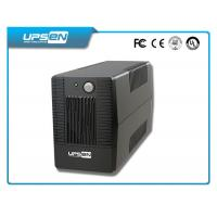 China Professional Smart 650Va / 390W Offline UPS Black With 12V 7Ah Battery wholesale