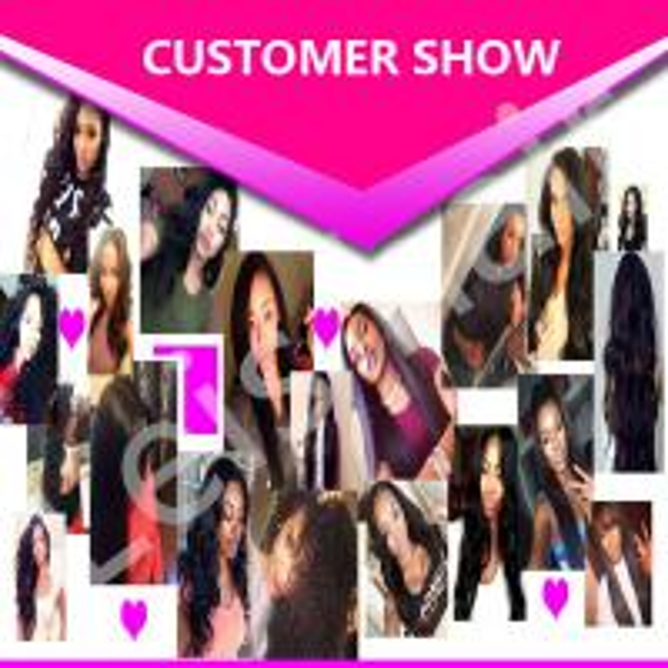 leis hair-human hair-customer show