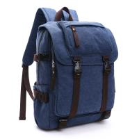 China Canvas Large Capacity School Backpack , Patchwork Backpacks For College Students wholesale