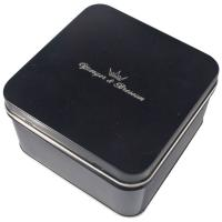 China Empty Gift Tin With Black Color Printed ,Watch Packaging Box ,Looks Graceful And Great wholesale