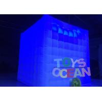 Quality 2.5m Cube Tube Led Lighting Advertising Inflatables Portable Photo Booth Wedding Tents for sale