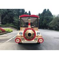 China Carton Electric Sightseeing Vehicle Electric Shuttle Bus For Theme Park wholesale
