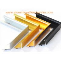 Buy cheap Brushed Aluminium Picture Frame Mouldings , Aluminium Picture Frame Extrusions  from wholesalers
