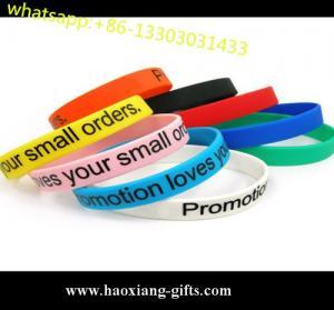 China Customed cheap pretty design sport silicone wristband/silicon bracelet wholesale