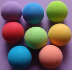 China Soft  Durable Bouncing EVA Colored  Foam Balls Good Elasticity wholesale