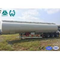 China High Capacity Stainless Steel Tanker Trailers , 40000l - 60000l Oil Tanker Trailer wholesale