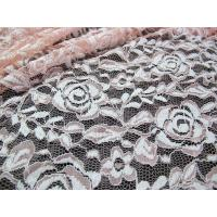 Quality Cotton Spandex Polyester Stretchy Lace Fabric With Mesh Knitted Flower Lace for sale