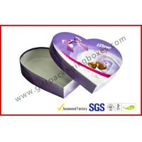 China Heart-Shape Lecote Chocolate Gift Packaging Boxes With Food Grade Printing , 157G Coated Paper Boxes wholesale