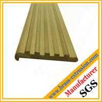 leaded copper alloy brass extrusion profiles of floor nosing