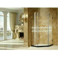 China Toughened Frosted Folding Glass Shower Partition Frameless Heat - Resistant wholesale