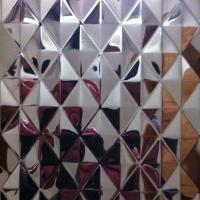 China SUS304 Embossing Stainless Steel Colored Sheets ,PVD Decoration Sheets 1250mm 1500mm Rose gold, Brown, Bronze wholesale