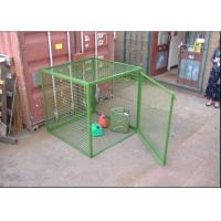 Buy cheap Outdoor Propane Storage Cage Green Color , Gas Bottle Cage Powder Coating from wholesalers