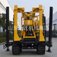China Portable crawler type easy to start without hurting the road surface rig hydraulic slide frame type water well wholesale
