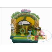 China Customized Inflatable Bouncy Castle House Obstacle Combo Jungle Animal Shaped wholesale