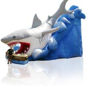 China 27ft shark attack slide water slide for sale wholesale