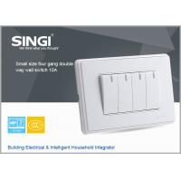 China GNW58C Professional  Factory Supply wall switch and socket of 10a four gang double way  switched socket with double pole wholesale