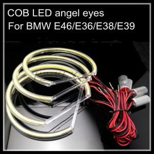 China COB LED angel eyes for BMW LED headlight halo ring E38 E36 E39 E46 4*131mm wholesale