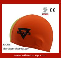 China Adult lycra swimming cap with custom logo on sale