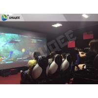China Multiplayer Interactive 7D Shooting Game 7D Movie Theater With Shooting Game And 9 Luxury Motion Seats wholesale