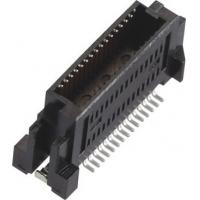 China Male 0.635mm Board to Board Connector Gold-plated LCP Black/Natural (UL94V-0) wholesale