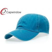China Solid Color Cotton Baseball Caps with Velcro Strap Closure for Unisex wholesale