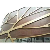 China 4mm Thick PVDF Coating Curved Aluminum Veneer Perforated Metal Ceiling Panels wholesale