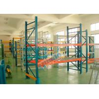 Quality Double Deep Pallet Racking System For Warehouse , Each Level Adjustable Pallet Racking Box Shape Beam for sale