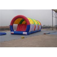 China Portable Inflatable Water Pool Slide , Double Lane Slip And Slide For Gardens wholesale