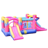 China Giraffe Themed Backyard Oxford Fabric Material Jumping Castle Inflatable Bounce House With Slide wholesale