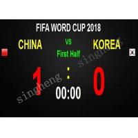 China Iron Cabinet Materials LED Scoreboard Display P6 Open Or Closed Cabinet Type wholesale